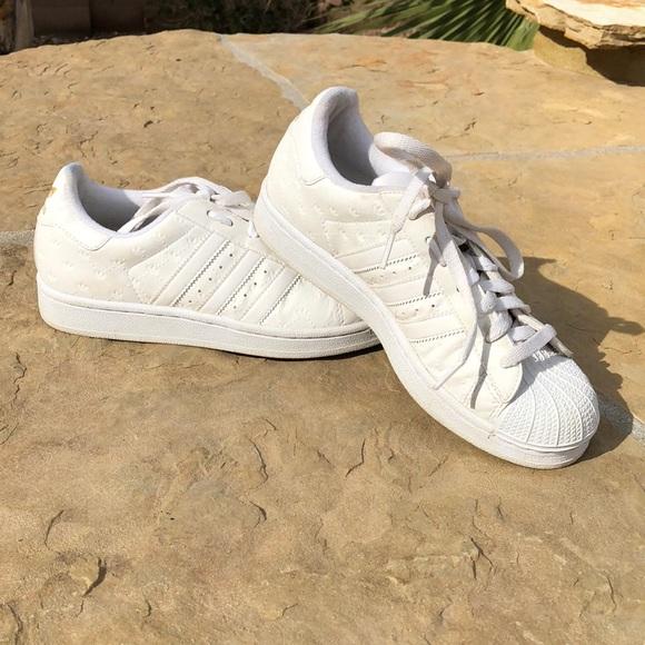 White Vintage Adidas Superstars | Poshmark
